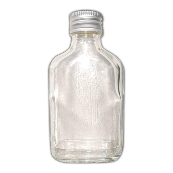 10 Taschenflaschen 100ml aus Glas mit Schraubverschluss - leer - Flachmann