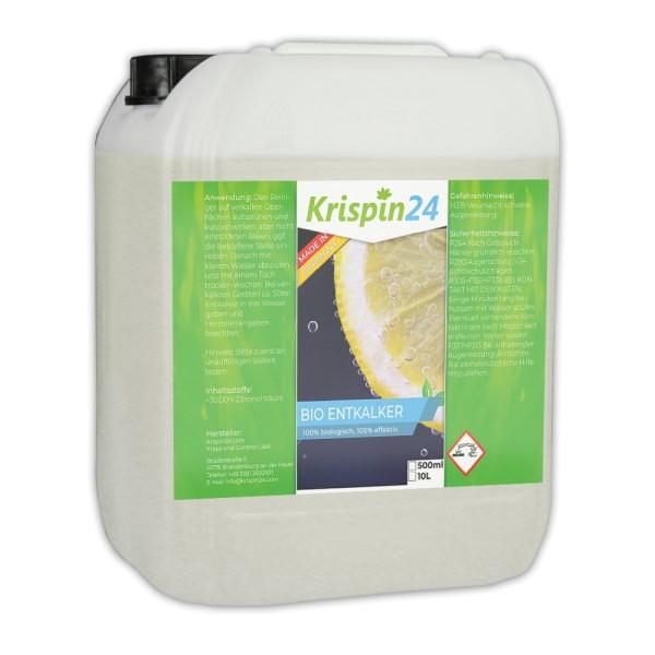 100% Bio Entkalker 10L zur Reinigung der Kaffeemaschine / Haushaltsgeräte und Kalkablagerungen